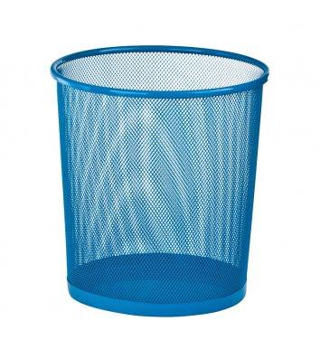 Корзина для сміття металева синя 10л, Zibi