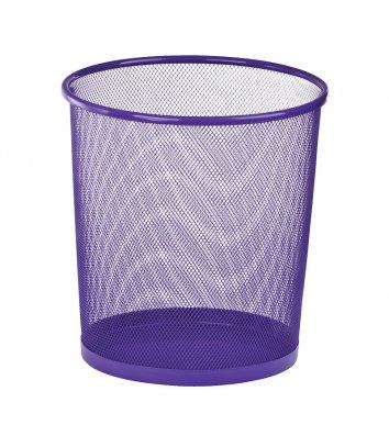 Корзина для сміття металева фіолетова 10л, Zibi