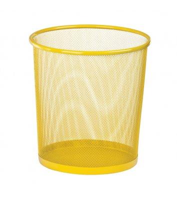 Корзина для сміття металева жовта 10л, Zibi