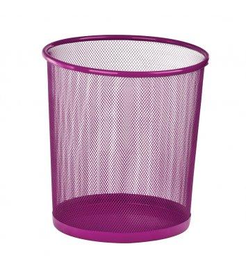 Корзина для сміття металева рожева 10л, Zibi