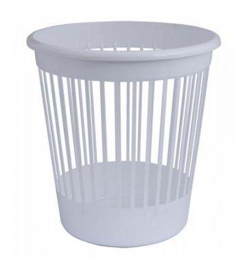 Корзина для сміття пластикова біла 10л, Arnika