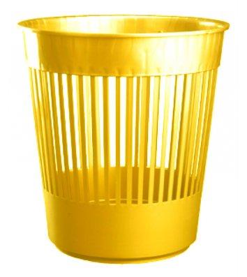 Корзина для сміття пластикова жовта 10л, Arnika