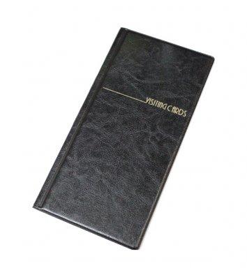 Визитница на 96 визиток PVC черная, Panta Plast
