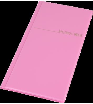 Визитница на 96 визиток PVC розовая, Panta Plast