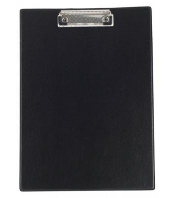 Планшет А4 с прижимом PVC черный, Buromax