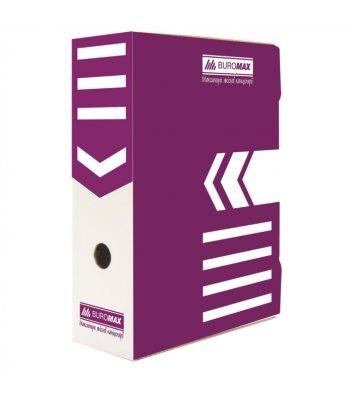 Бокс архівний 100мм фіолетовий, Buromax
