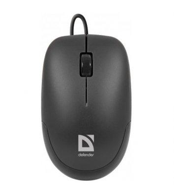 Миша комп'ютерна провідна чорна, Defender Datum MM-010