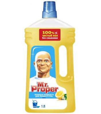 Средство для чистки Mr.Proper универсальный 1л, лимон