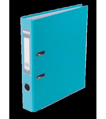 Папка-регистратор А4 50мм односторонняя голубая Lux, Buromax