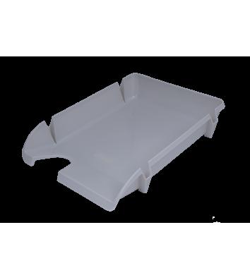 Лоток горизонтальний пластиковий сірий непрозорий Компакт, Arnika