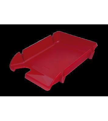 Лоток горизонтальний пластиковий червоний непрозорий Компакт, Arnika