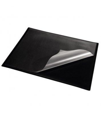 Настольное покрытие прозрачное с черной подкладкой 652*512мм, Panta Plast