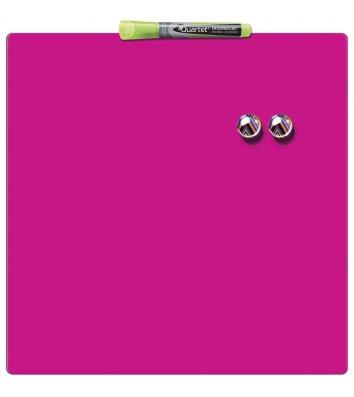 Дошка магнітно-маркерна  36*36см, рожева Quartet, Nobo