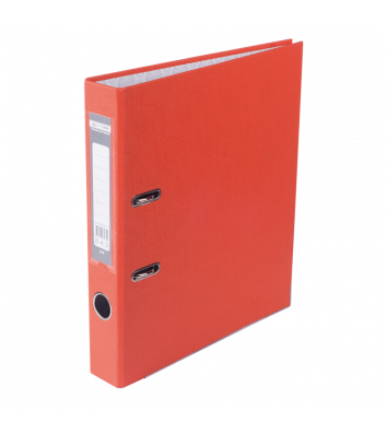 Папка-реєстратор А4 50мм одностороння помаранчева Lux, Buromax