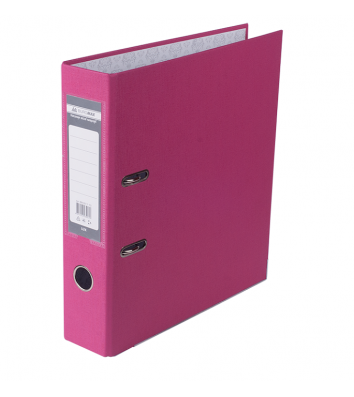 Папка-регистратор А4 70мм односторонняя розовая Lux, Buromax