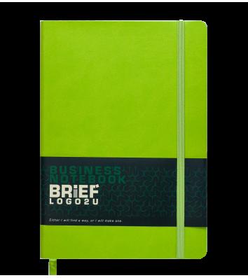 Діловий записник клітинка А5 Brief зелений, Buromax