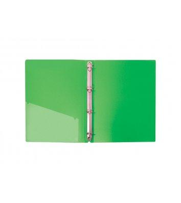 Папка А4 пластикова на 4 кільця 30мм зелена, Economix