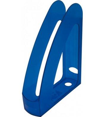 Лоток вертикальний пластиковий синій прозорий, Arnika