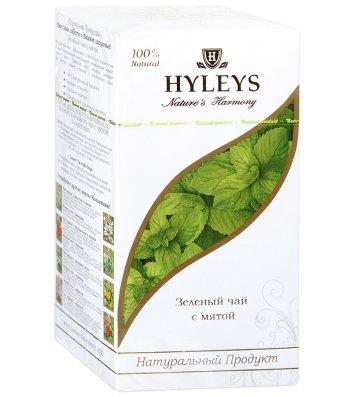 Чай зелений Hyleys з м'ятою в пакетиках 25шт