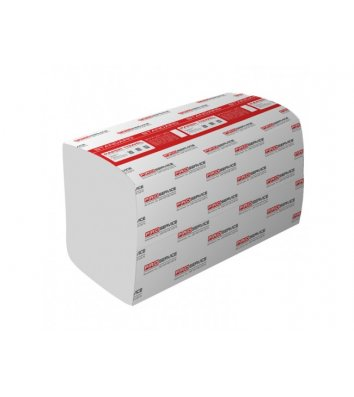 Рушники паперові  одношарові 200 шт Standard V-складання білі, PRO Service
