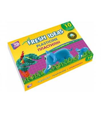 Пластилін 10 кольорів 100г, Cool for School