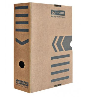 Бокс архивный 100мм коричневый, Buromax