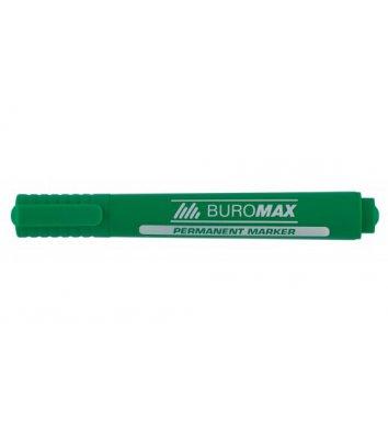 Маркер перманентний, колір чорнил зелений 2-4мм, Buromax