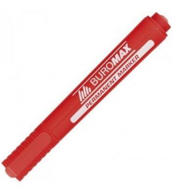 Маркер перманентний, колір чорнил червоний 2-4мм, Buromax