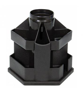 Підставка канцелярська пластикова чорна B61, Кип