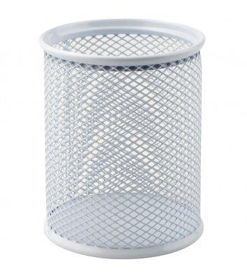 Подставка канцелярская металлическая белая, Axent