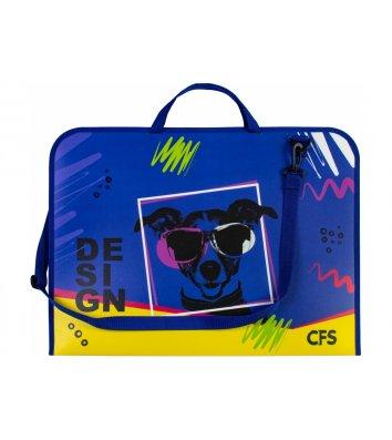 """Портфель А3 пластиковий на липучці 2 відділення  """"WOW"""", Cool for School"""