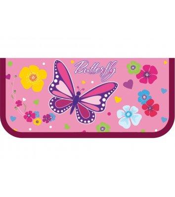 Пенал пластиковый на молнии Butterfly, Cool for School