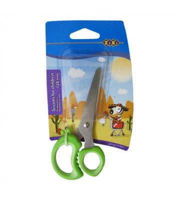 Ножиці дитячі 12,8см ручки з гумовими вставками, Zibi