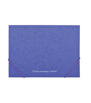 Папка А4 пластикова на гумках Barocco фіолетова, Buromax