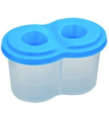 Стакан-непроливайка, пластиковий, кольоровий, подвійний