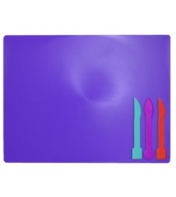 Набір для ліпки: дошка, 3 стеки фіолетовий, Zibi