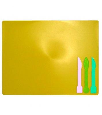 Набір для ліпки: дошка, 3 стеки жовтий, Zibi