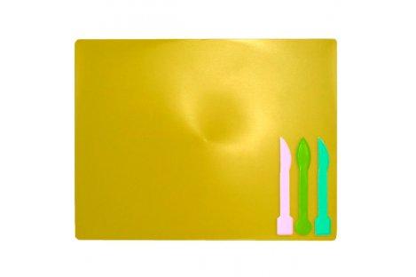 Набор для лепки: доска, 3 стека желтый, Zibi