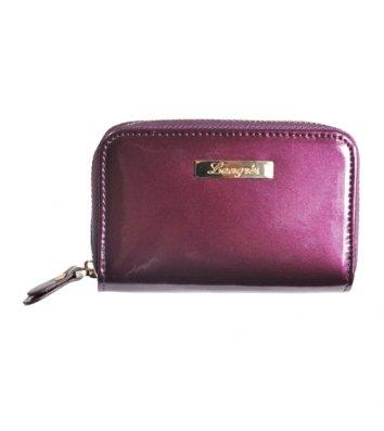"""Картхолдер """"Glaze"""" кожаный фиолетовый, Langres"""