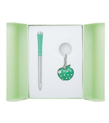 Набір ручка кулькова та брелок Apple зелений, Langres