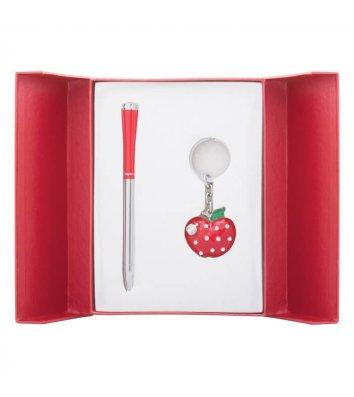 Набір ручка кулькова та брелок Apple червоний, Langres