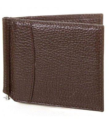 Зажим для грошей шкіряний Canpellini 070, коричневий