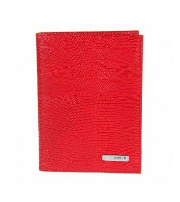 Обкладинка для автодокументів шкіряна червона, Karya