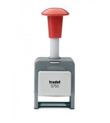Нумератор 6 разрядов 5,5 мм автоматический пластиковый корпус шрифт-block, Trodat