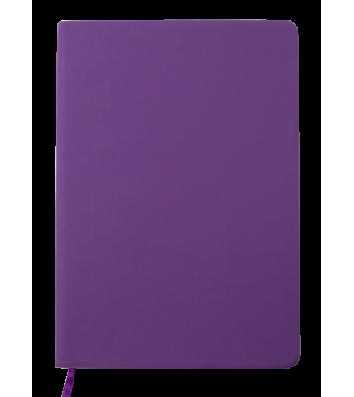 Деловой блокнот A5 96л клетка Touch Me фиолетовый, Buromax