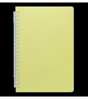Блокнот A5 60арк нелінований Fresh, бічна спіраль жовтий, Buromax
