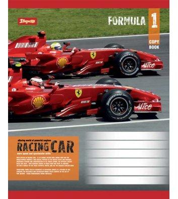 Тетрадь 24 листа клетка, обложка Транспорт/Спорт в ассортименте