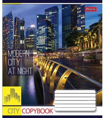 Тетрадь 60 листов клетка, обложка Путешествия/Города в ассортименте