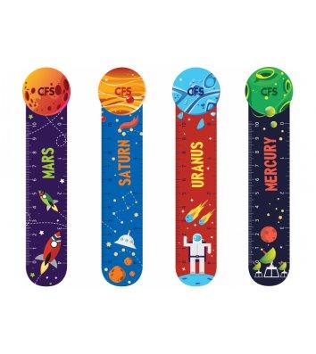 """Закладки пластиковые для книг 4шт """"Space"""", Cool for School"""