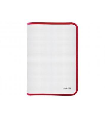 Папка B5 пластиковая прозрачная с красной молнией, Economix